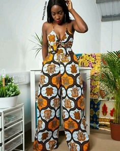 Rock the Latest Ankara Jumpsuit Styles these ankara jumpsuit styles and designs are the classiest in the fashion world today. try these Latest Ankara Jumpsuit Styles 2018 African Inspired Fashion, African Print Fashion, Africa Fashion, Fashion Prints, African Print Pants, African Print Dresses, African Fashion Dresses, African Prints, Ankara Fashion