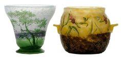 Two Art Nouveau Vases by Daum, Nancy Art Nouveau, Glass Art, Clay, Antiques, Vases, Home Decor, Beauty, Collection, Clays