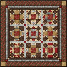 """Chocolat Cake and Roses"" 2013 Six-Month Block of the Month Free Pattern"