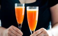 Carrot-Cardamom Sparkling Cocktails
