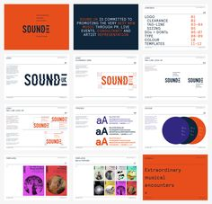 Sound UK are contemporary music producers creating 'extraordinary musical… Identity Design, Brochure Design, Visual Identity, Brand Identity, Web Design, Logo Design, Graphic Design, Brand Guidlines, Brand Guidelines Design