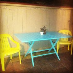 Today's project! DIY table and chairs!