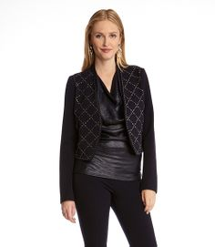 Beautiful Karen Kane Diamond Stud Jacket #Karen_Kane #Diamond #Stud #Jacket