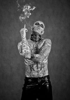 Zombie Boy for Factice Magazine. Idk where to pin this but I love it! Awesome tattoos n super sexy man!