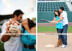 "I think it would be fun to have part of our engagement photos be baseball ""themed"" - Yankee gear for me, of course. ; )"