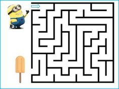 Mazes For Kids, Worksheets For Kids, Kindergarten Worksheets, Preschool Activities, Minions, Letter Maze, Zumba Kids, Maze Worksheet, End Of Year Party
