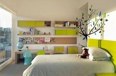 ideas for boys bedroom green walls - Google Search