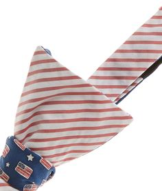 Shop Silk Bow Ties: Flags & Starts 2-Panel Printed Bow Ties for Men | Vineyard Vines