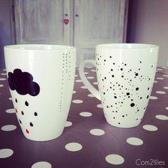 Voici un article sur la customisation de mugs. J'ai testé les crayons sans cuisson et résistant au lave-vaisselle : ça ne marche pas !