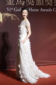 4664178d035 Gwei Lun-Mei in Elie Saab Spring 2014 Haute Couture attends the Golden  Horse Awards in Taiwan on 22 November
