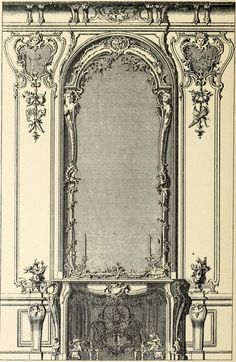 Design for the fireplace of a Parade Bedroom, France