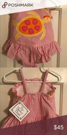 a8aeb792a1 Bailey Boys Baby Girl Swimsuit NWT 12 months Striped bathing suit Bailey  Boys Swim One Piece