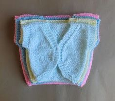 Hope you enjoy my latest design - a simple but sweet sleeveless baby bolero jacket.                     Four sizes at present ~ Newborn, la...