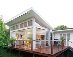 27 New ideas for house architecture plan decks Building A Porch, Building A House, Building Ideas, Building Plans, Deck Design, House Design, Flat Design, Roof Design, Design Shop
