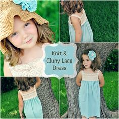Knit and Cluny Lace Dress Tutorial