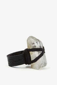 at nasty gal Clear Skies Leather Ring