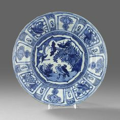 A Blue and White 'Kraak' Dish, Wanli period (1573-1619)