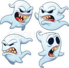 Evil cartoon ghosts