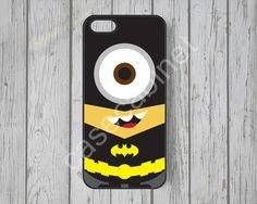 Minion Batman iPhone 5 s cas mignon iPhone 5 cas par CaseCabinet, $6,99