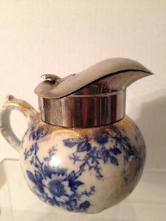 Vintage Flow Blue Syrup Pitcher  (GladysandNoras)