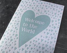 Glückwunschkarte zur Geburt Letterpress, Cover, Books, Design, Business Cards, Invitations, Libros, Letterpress Printing, Letterpresses