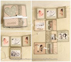 Photo album - memories collection in a beautiful packagingSmooth Scrapbooking Layouts For CouplesFixed Scrapbook EmbellishmentsAblaze Scrapbooking Tips Scrapbook Bebe, Mini Scrapbook Albums, Scrapbook Cards, Scrapbooking Layouts, Mini Albums, Mini Photo Albums, Baby Mini Album, Mini Album Tutorial, Book Making