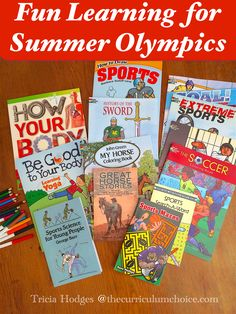 (With giveaway - $75 in books celebrating 75 years of Dover!) Dover Publications has a wonderful collection of summer games coloring books that match Olympics learning or can be used for any sports study!