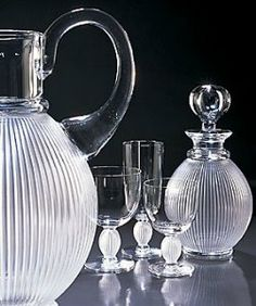 Lalique Langeais Water Glass N 2 5 7/10 in . $435.00. Clear and satin-finished crystal. Made in France.