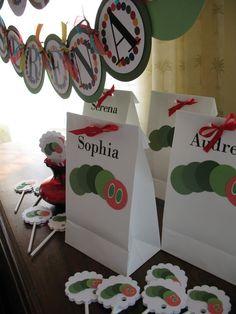 Happy Birthday Decorations Green Caterpillar by AdoraBelleDesign, $4.25