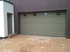 Garage doors with a personal touch Custom made garage doors: side hinged, sectional, sliding. Entrance Doors, Garage Doors, Front Entrances, Facade House, Home Photo, Sliding Doors, Curb Appeal, Building, Outdoor Decor