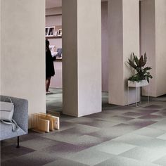 Information overload is a real problem. Interface modular flooring can help create a tranquil space Information Overload, Color Stories, Flooring, Contemporary, Colour, Space, Purple, Create, Home Decor