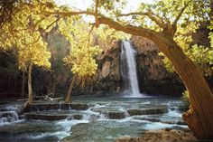 Waterfall at Havasu Creek - Arizona, United States http://www.voteupimages.com/waterfall-at-havasu-creek-arizona-united-states/