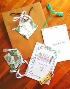 A little bag of fun to keep the little ones occupied during your wedding - designed and printed in tropical theme by Hoi An Events Rustic Wedding, Our Wedding, Destination Wedding, Little Bag, Little Ones, Welcome Bags, Hoi An, Wedding Favours, Wedding Designs