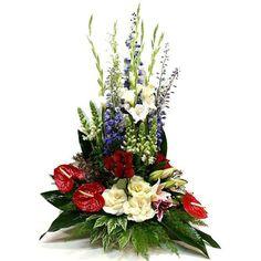 Modern Floral Arrangements, Funeral Flower Arrangements, Funeral Flowers, Happy Birthday Picture Quotes, Japan Flower, Floral Cake, Topiary, Ikebana, Cut Flowers