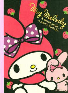 My Melody Notebook exercise book rabbit strawberry