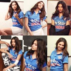 Deepika Bleed Blue Cricket