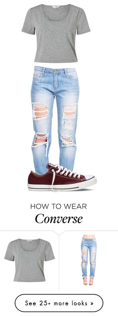 """""""Untitled #436"""" by shiane816 on Polyvore featuring Miss Selfridge and Converse"""
