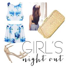 GNO by mparks0617 on Polyvore featuring polyvore, fashion, style, Stuart Weitzman, Love Moschino, clothing and girlsnightout