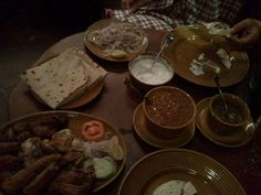 Bukhara in New Delhi, (High) is not just a restaurant but a paramount in North-West frontier food. For the real Naan, burrah kebab (mutton chops), Raan (full shoulder of goat) and Dal Makhani.