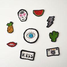Parches para la ropa DIY, cactus, ojo, piña, labios, rayo, sandía, calavera, cámara... - Departamento de ideas