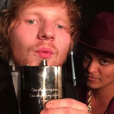 """Bruno Mars & Ed Sheeran from Grammys 2016: Instagrams & Twitpics  """"Song of the year"""""""