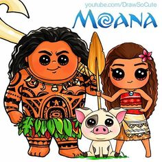 draw so cute moana