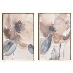 Found it at Wayfair - Feminine Touch 2 Piece Framed Painting Print Set