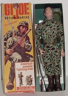 Nicholas had a GI Joe. Gi Joe, Vintage Toys 1960s, Retro Toys, Vintage Stuff, Childhood Toys, Childhood Memories, Videogames, Boomer Generation, Military Action Figures