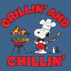 Peanuts Peanuts Snoopy Grillin & Chillin Backyard BBQ Grilling T-Shirt alternate image