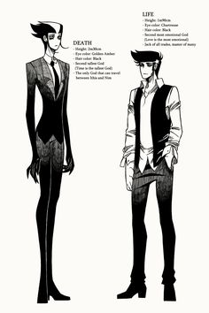 Anime Reference Site..A Matter of Life and Death :: Character Profile 01: Life & Death    Tapastic Comics - image 1