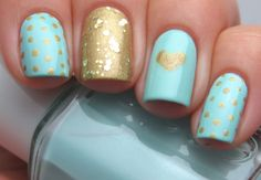 Mint and gold ♥