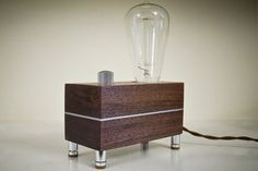 Blocklamp - made from walnut