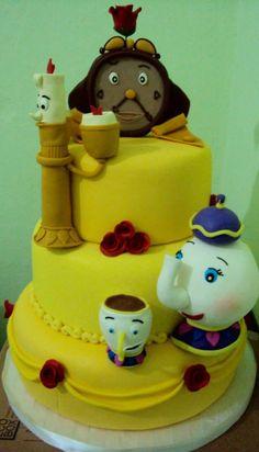#Bolo #Bela #Fera #Cake #Fondant