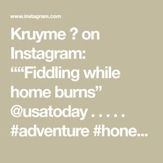 "Kruyme 🎼 on Instagram: """"Fiddling while home burns"" @usatoday . . . . . #adventure #honest #wildlifephotography #hutanorganics #jungle #amazonrainforest #nature…"""